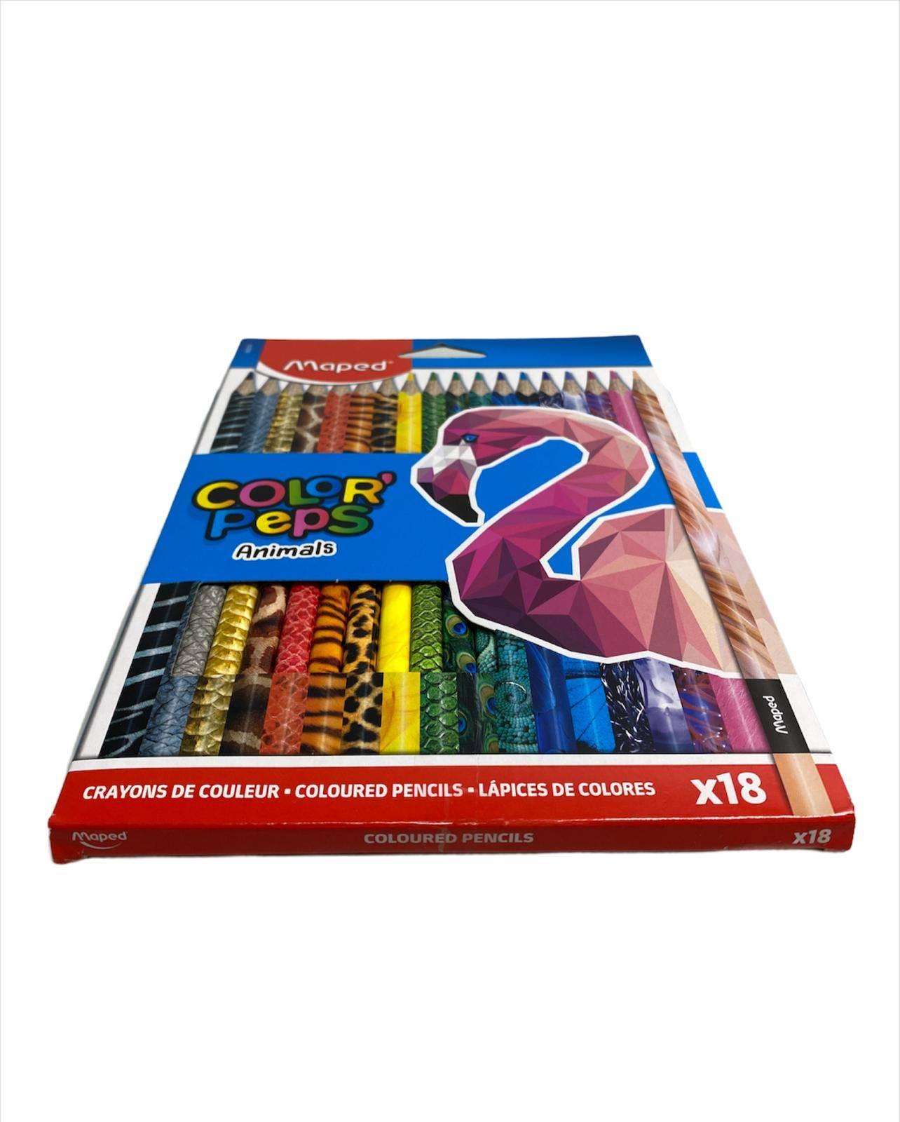 MAPED bojice Color Peps Animals 18 kom