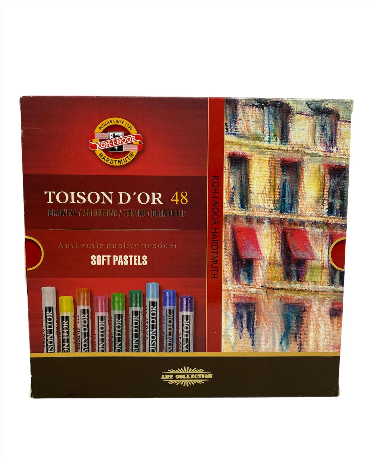 KOH-I-NOOR TOISON D'OR  SOFT SUVE PASTELNE BOJE   48kom